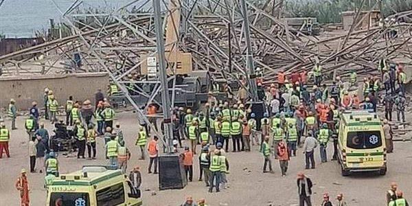 بالأسماء.. مصرع 4 وإصابة 3 آخرين فى حادث سقوط برج كهرباء بأوسيم.. صورة
