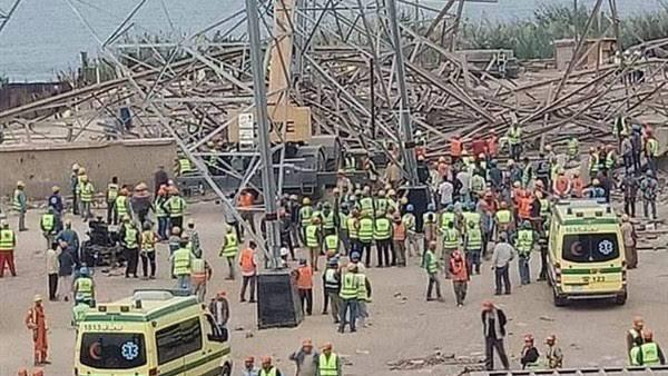 بالأسماء.. مصرع 4 وإصابة 3 آخرين فى حادث سقوط برج كهرباء بأوسيم