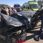 بالصور إصابة 3 أشخاص جراء حادث سير مروع بدمياط