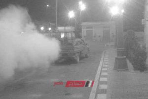 استمرار حملات رش وتطهير شوارع حى شرق من الناموس بالإسكندرية