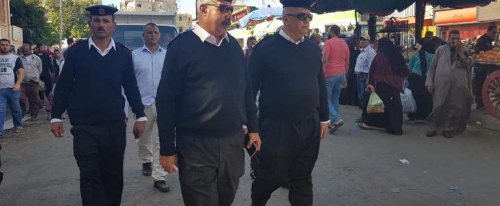 حملة إزالة إشغالات مكبرة بميدان محطة مصر بالإسكندرية
