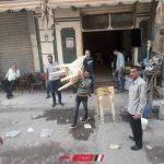 رفع 378 حالة اشغال قي حملة مكبرة بمدينة دمنهور