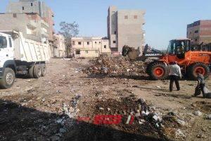 في استجابة لمطالب المواطنين رفع 6 طن قمامة من شوارع قرية سنهور في البحيرة