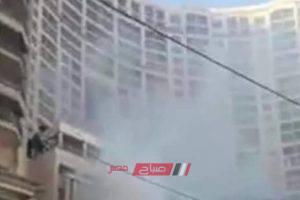 نشوب حريق فى سان ستيفانو مول بالإسكندرية