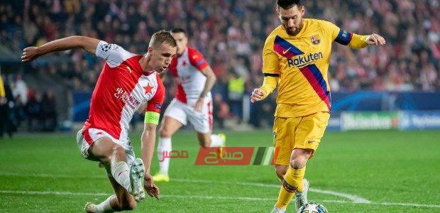 ملخص مباراة برشلونة وسلافيا براغ دورى الابطال الاوروبي