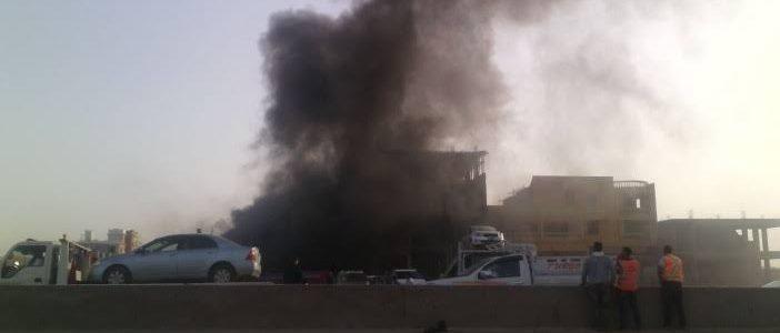 القبض على سيدة أشعلت النيران فى معرض سيارات بالإسكندرية