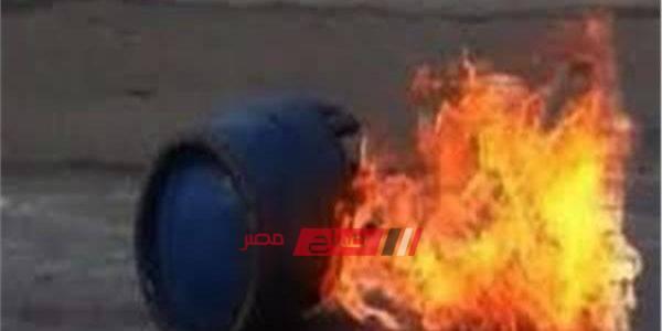 إصابة 3 أفراد فى حادث انفجار اسطوانة غاز في البحيرة