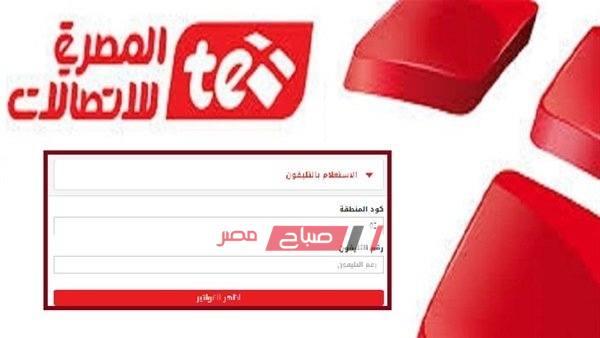 الاستعلام عن فاتورة التليفون الأرضي من المصرية للاتصالات لشهر أكتوبر