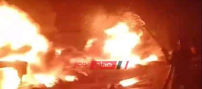 بالفيديو .. إصابة 15 شخص في انفجار خط بترول عزبة المواسير بإيتاي البارود البحيرة