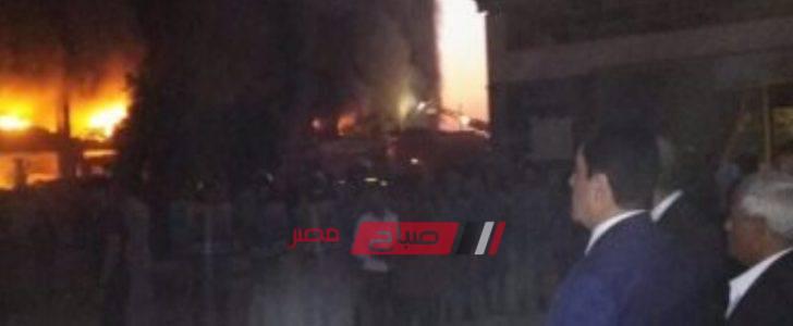 اختناق 4 أفراد إثر حريق مصنع الدراجات البخارية بمدينة قليوب