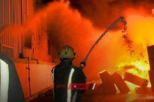 نشوب حريق هائل بمخزن معهد أزهري بمدينة أرمنت التابعة لمحافظة الأقصر