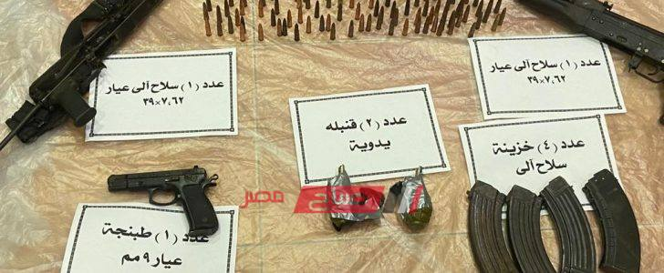 مقتل 3 عناصر إرهابية بحوزتهم قنابل في سيناء