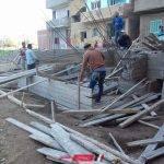 بالصور حملات إزالة للتعديات على الأراضي الزراعية في أشمون