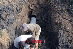اصلاح خط طرد الصرف الصحى في قرية البصارطة