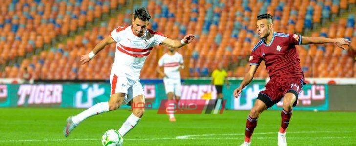 الدوري المصري نتيجة مباراة الزمالك وبيراميدز