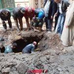 بعد تكرار الشكاوى تغيير خط الصرف الصحي في قريه أفلاقه