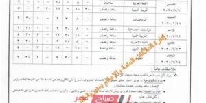 جدول امتحانات المرحلة الإعدادية محافظة الإسكندرية الترم الأول 2019-2020