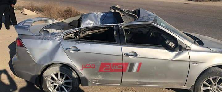 بالصور إصابة 3 طلاب جراء حادث سير مروع على طريق دمياط الجديدة