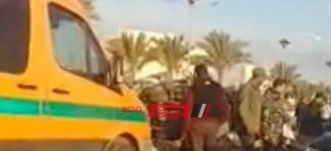 إصابة شخص جراء انقلاب سيارة ملاكي على طريق دمياط الجديدة