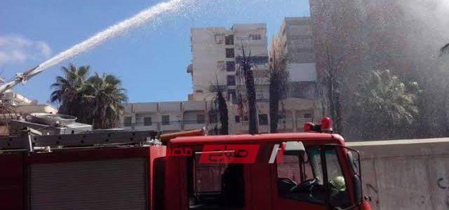إخماد حريق نشب داخل مصنع موبليات في دمياط
