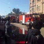 بالصور السيطرة على حريق مصنع أثاث في مدينة دمياط الجديدة
