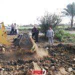 وكيل الزراعة في دمياط يقود حملة لإزالة التعديات على الرقعة الزراعية
