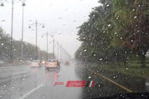 تساقط أمطار غزيرة على طريق مصر – الإسكندرية الزراعي