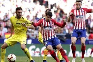 الدوري الاسبانى نتيجة مباراة أتلتيكو مدريد وفياريال