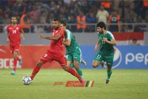 كأس الخليج العربي نتيجة مباراة العراق والبحرين