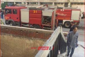 إخماد حريق هائل نشب في محل ستائر بدمياط
