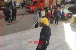 صور نشوب حريق داخل كلية الأسنان جامعة الإسكندرية