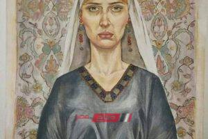 نور فنانة تشكيلية تجسد شموخ المرأة المصرية في لوحة