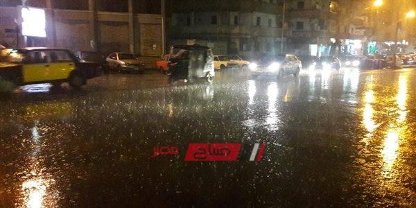 هطول أمطار غزيرة على العديد من المناطق في الإسكندرية الآن تعرف على التفاصيل