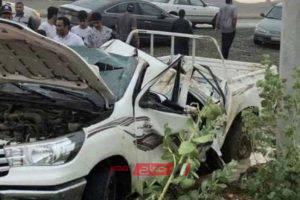 وفاة 4 أشخاص وإصابة 19 آخرين فى حادث انقلاب سيارة في المملكة العربية السعودية