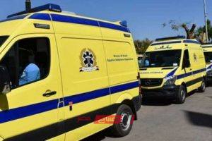 إصابة 13 شخص في انقلاب سيارة ربع نقل في الشرقية