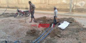 إصلاح كسر ماسورة مياه
