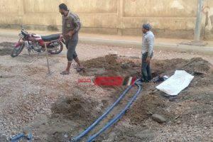 إصلاح كسر ماسورة مياه في حى المنتزه في الإسكندرية