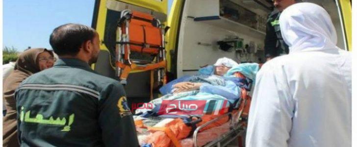 مصدر طبي يؤكد على تحسن حالة المصابين في حادث تصادم تاكسي ودراجة بخارية بدمياط