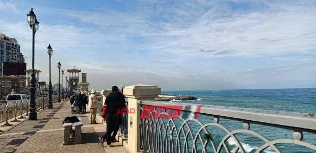 الطقس فى الإسكندرية الآن استقرار الأحوال الجوية مع انخفاض درجات الحرارة