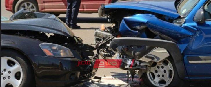 إصابة 5 أفراد في حادث انقلاب سيارة ربع نقل بـ ملوي