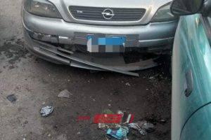 إصابة 20 شخص فى حادث تصادم بين سيارتين في الدقهلية