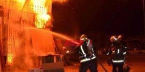 نشوب حريق داخل أحد المصانع