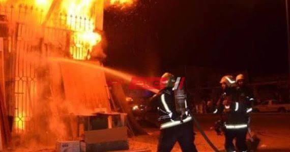 إخماد حريق بشقة سكنية فى مدينة إسنا جنوب الأقصر