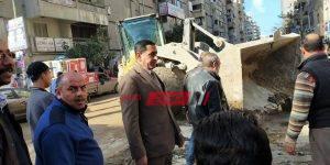 حملات إزالة إشغالات مكبرة في حي المنتزه في الإسكندرية