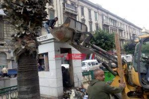 حملات إزالة إشغالات مكبرة في منطقة المنشية