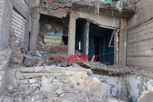 سقوط أجزاء من عقار في حى المنتزه في محافظة الإسكندرية