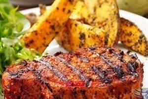 طريقة عمل لحم مشوي مع البطاطس للرجيم