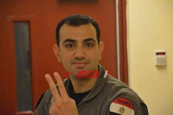 ننشر صورة المقدم طيار هشام حسني شهيد سقوط طائرة أثناء تدريبات القوات المسلحة