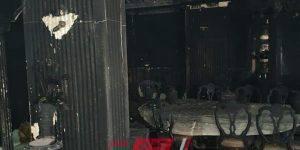 بعد وفاته مختنقاً - المعاينة تؤكد تفحم الطابق الخاص بوالد الفنان إيهاب توفيق بالكامل