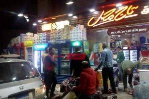 شن حملة مكبرة لازالة اشغالات  شارع وزير الإعلانات المخالفة بدمياط